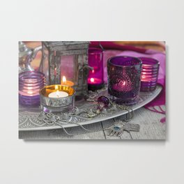Still life with Moroccan lamps Metal Print