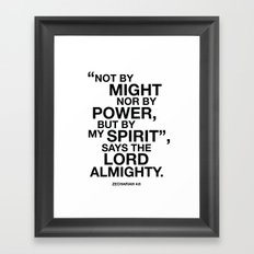 Zechariah 4:6 By My Spirit, Says the Lord Typography Print Framed Art Print