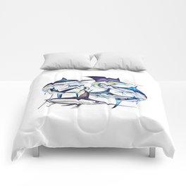 Pacific Billfish Slam Marlins,Sailfish,Swordfish,Spearfish Comforters