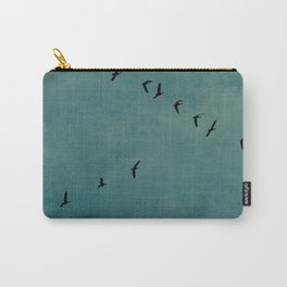 GEESE FLYING - TEAL Carry-All Pouch