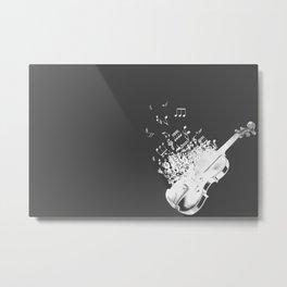 Fiddle white music Metal Print