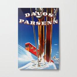 Vintage Davos Parsenn Switzerland Metal Print