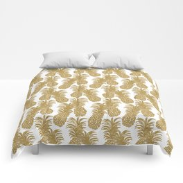 Gold Pineapples Comforters