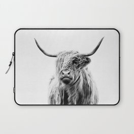 portrait of a highland cow (horizontal) Laptop Sleeve