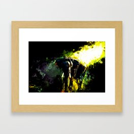 elephant jungle sunray ws std Framed Art Print