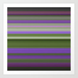 Stripes in Purple and Green Art Print