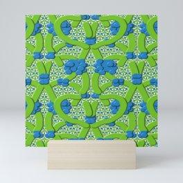 Lattice Floral Design Mini Art Print