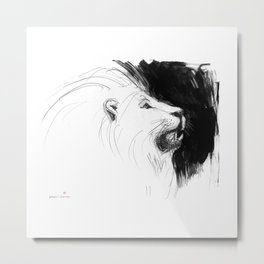 Lion for the change Metal Print