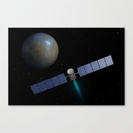 Artist's Impression - Dawn Spacecraft on the way to Ceres Canvas Print