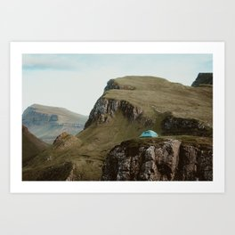 Camping On The Isle of Skye Art Print