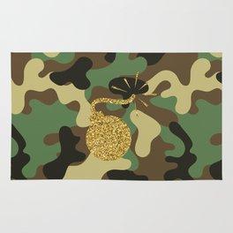 CAMO & GOLD GLITTER BOMB DIGGITY Rug