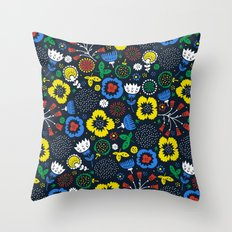 Blooming Wild Throw Pillow