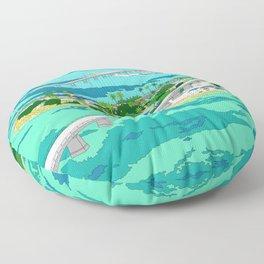 Florida Seven Mile Bridge Floor Pillow