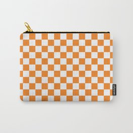 Orange Checkerboard Pattern Carry-All Pouch