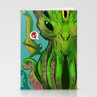 cthulhu Stationery Cards featuring Cthulhu by Tyler Lederer
