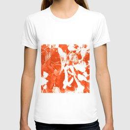 Orange Cactus Pattern T-shirt