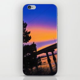 Colorful Sunset to end a Cloudy Day on Casco Bay iPhone Skin