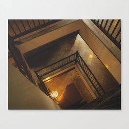Kathmandu City - Architecture 01 - Stairs Canvas Print