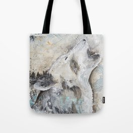 "Animal - ""Sweet Wolf"" - by LiliFlore Tote Bag"