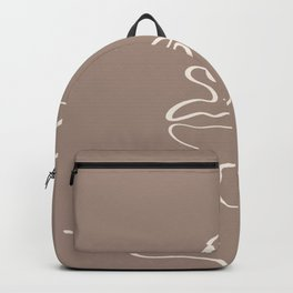 Abstract one line art face print. Backpack