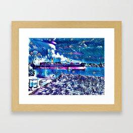 Midnight On The Bay Framed Art Print