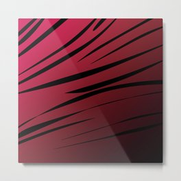 wild lines, exotico  Red Metal Print