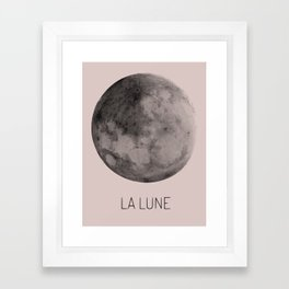 Pink Moon Space Framed Art Print