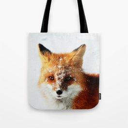 Snowy Faced Fox Tote Bag