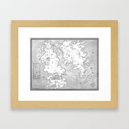 Snakewood Map Framed Art Print