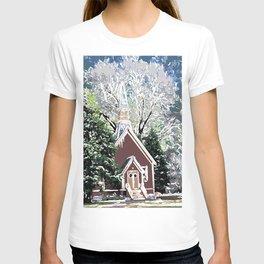 View of Yosemite Valley Chapel T-shirt