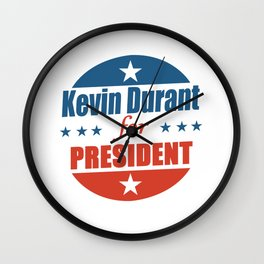 Kevin Durant For President Wall Clock