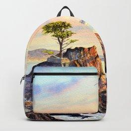 Pebble Beach Lone Cypress Tree Backpack