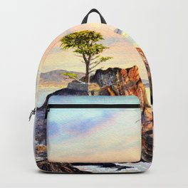 Pebble Beach Lone Cypress Tree Backpack
