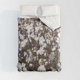 Cotton field in rural Tunica County Mississippi Comforters