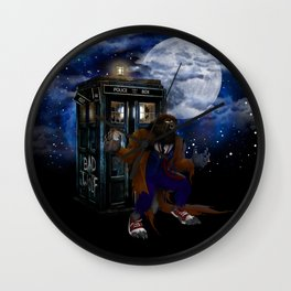 Werewolf 10th Doctor who Wall Clock