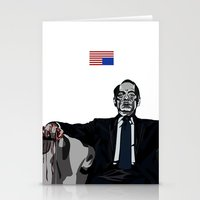 house of cards Stationery Cards featuring House of Cards by dzn_art