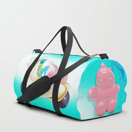 Time Bunny Girl and Art Robo Duffle Bag
