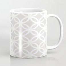 Gray Geometric Circles Mug