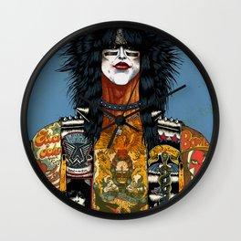 Portrait of Nikki Sixx Wall Clock