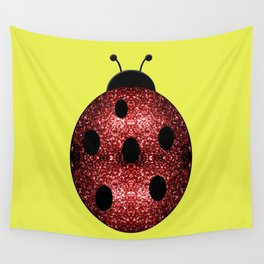 Beautiful Sparkling red sparkles Ladybird Ladybug Wall Tapestry