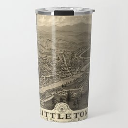 Map Of Littleton 1883 Travel Mug