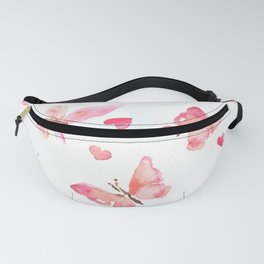 Lovely spring original watercolor print Fanny Pack
