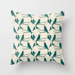 Rustic Green Bird Throw Pillow