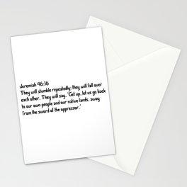 Jeremiah 46:16 Stationery Cards