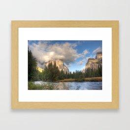 Yosemite Valley Haze, October 2010 Framed Art Print