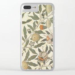 William Morris Fruit Pattern Clear iPhone Case