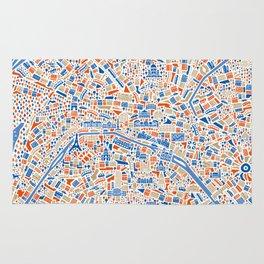 Paris City Map Poster Rug