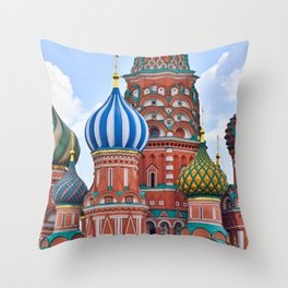 Domes Of St. Basil Throw Pillow