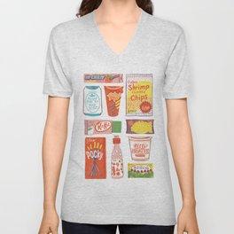 Asian Snacks Unisex V-Neck