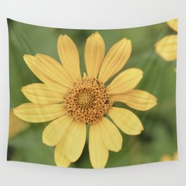Beautiful Yellow Vintage Flower Wall Tapestry